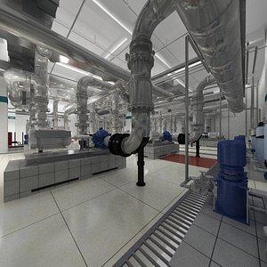 3D model Industrial Pump Room