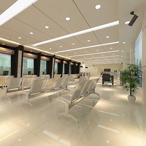 3D model Bank Client Service Hall