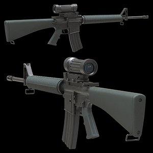 Colt Canada C7A1 Low Poly 3D model
