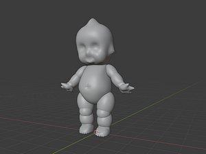 3D Kewpie Baby model
