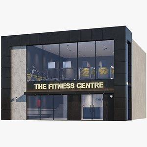 3D Interior And Exterior Gym Building