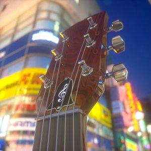 guitar acoustic 3D model