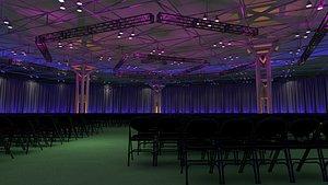 3D theater room interior model