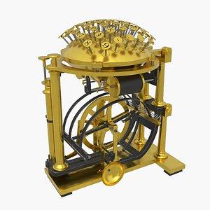 typewriter type writer 3D model