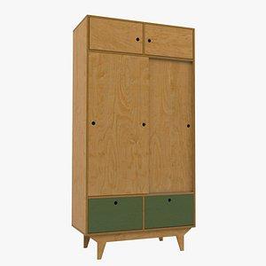 Plywood wardrobe 5 3D model