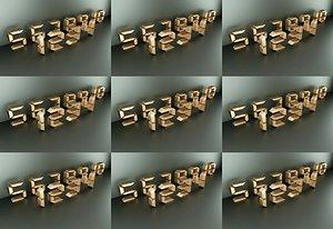 Digital Arabic digital LCD digital font digital Digital technology sense digital mechanical letters 3D model