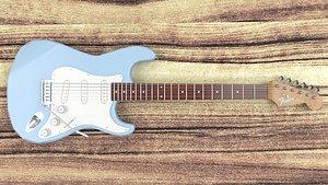 Fender Stratocaster Guitar 3D model