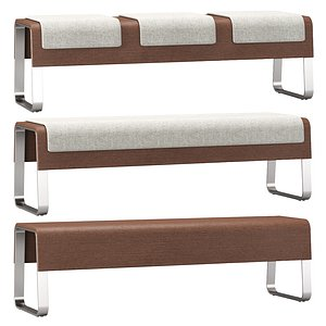 3D HBF Cheval lounge benches
