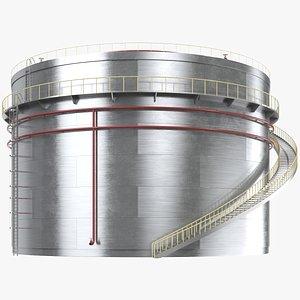 3D Cylindrical Oil Tank 2
