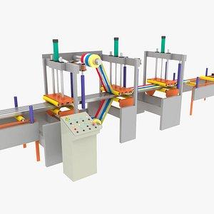 Adhesive tape applicator machine for aluminum profile 3D model