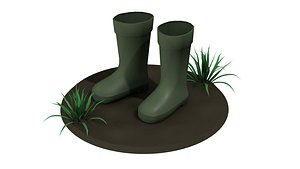 3D Boots low poly