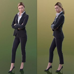 10241 Ramona - Young Business Woman With Crossed Arms And Strict Look model
