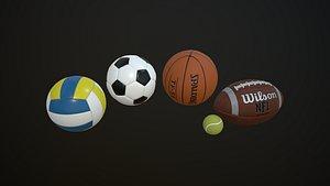3D soccer football model