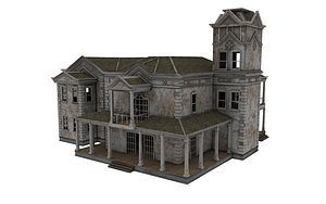 3D Abandoned House H04 model