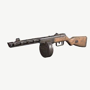 ppsh-41 ppsh weapons 3D model
