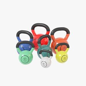3D Kettlebells V2 model
