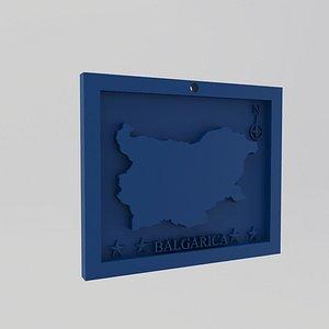 Bulgaria-Balgarica  Map Print 3D model
