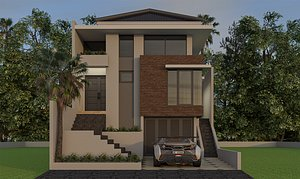 3D house minimalist model