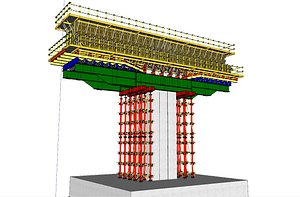 3D formwork bridge pier model