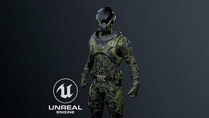 3D SCI-FI soldier model