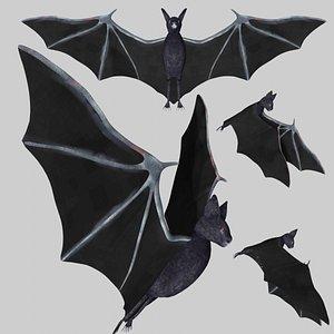 rigged bat 3D model