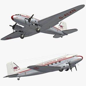 DC3 British Airways Vintage model