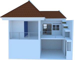 interior architecture 3D model