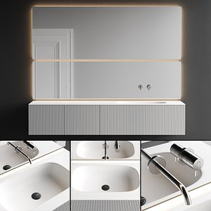 3D model Antonio Lupi Design Binario 12 Vanity Unit Set 2