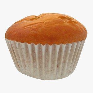 orange cupcake cake 3D model