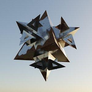Mandelbroat Triangle 3D model