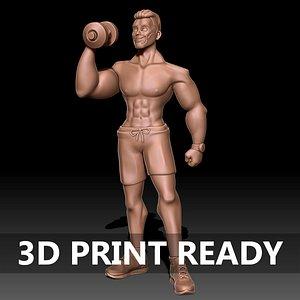 3D body builder model