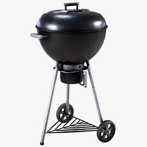 3D kettle bbq grill model
