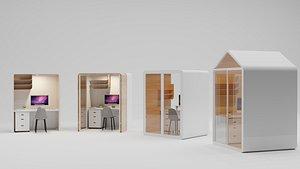 3D OFFICE WORK POD model