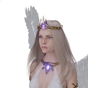 3D beautiful flying angel wings model