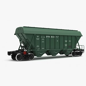 hopper cars 19-970 modeled 3d max