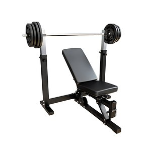 incline bench press 3D model