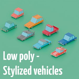 Low poly - Stylized vehicles 3D model
