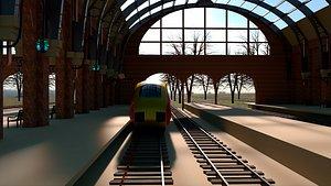 Train Virgin Trains 3D model