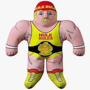 hulk hogan toy 3D model