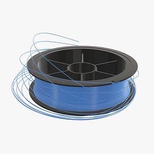 3D fishing line spool