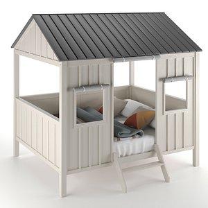 3D Kids Spring Cottage Full Bed model
