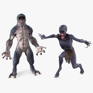 3D model monster beasts