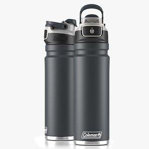 3D Coleman autoseal water bottle Gray model