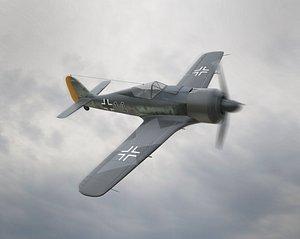 Focke Wulf Fw 190 Plane 3D