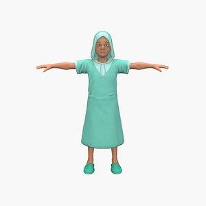 3D Church Child model