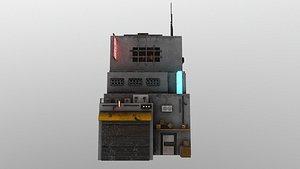 CyberpunkBuilding3 3D model