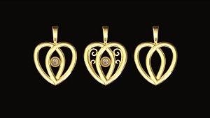 charms earrings 3D model