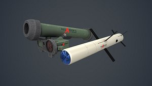 3D model hj12 red arrow