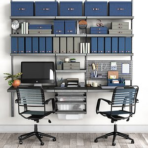 3D Office workplace N2