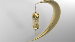 3D arabic lantern model